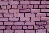 Old rough violet color brick wall pattern. - 174507964