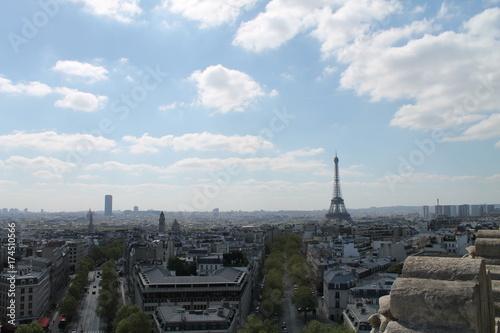 Spoed canvasdoek 2cm dik Parijs Paris