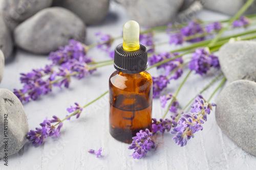 Foto op Canvas Lavendel lavender massage oil