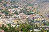 panoramic view of Taormina, sicily, italy