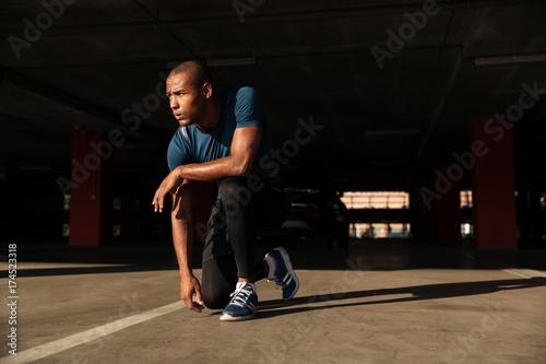 Portrait of a healthy african sportsman
