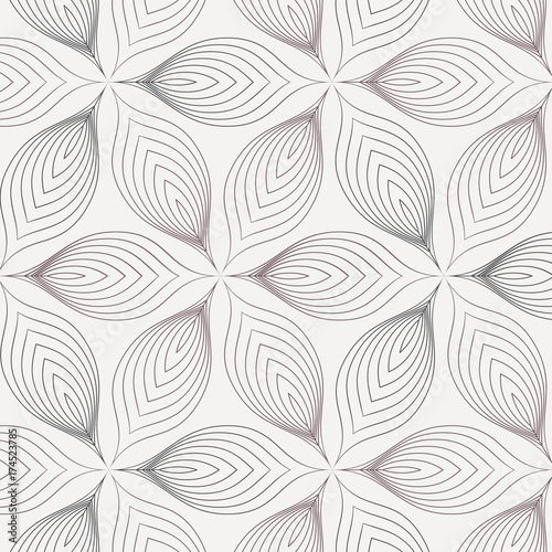 Abstract linear petal flower. Vector pattern.pattern is on swatches panel - 174523785