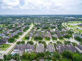 Aerial view of a suburban neighborhood  - 174530326
