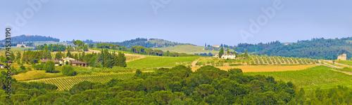 Deurstickers Toscane Toskana-Panorama, im Chianti-Gebiet