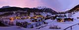 Mountains ski resort Solden Austria at sunset - 174534172