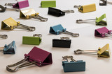 Detail of colored binder clips - 174539100