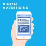 Digital advertising ads social media online marketing. vector illustration concept. - 174540789