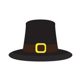 Isolated pilgrim hat on a white background, Thanksgiving day vector illustration - 174541524
