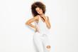 Beautiful african american female model