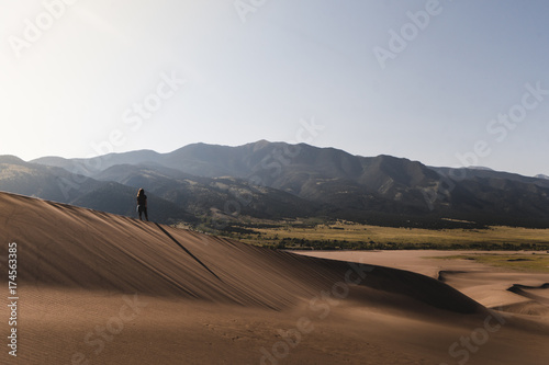 Foto op Canvas Wit Great Sand dunes