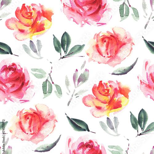 Watercolor flowers - 174578972