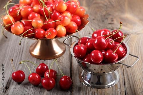 Fotobehang Kersen Sweet cherries.