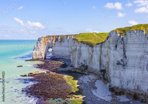 In de dag Blauwe hemel Landscape in Normandy