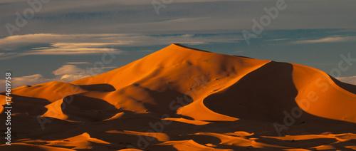 Fotobehang Marokko Sahara Desert Sand Dunes - 3902