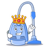 King vacuum cleaner character cartoon - 174661975