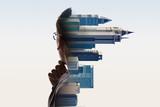 Digital Composite Of City And Businessman Portrait - 174669550