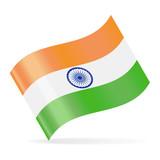 India Flag Vector Waving Icon