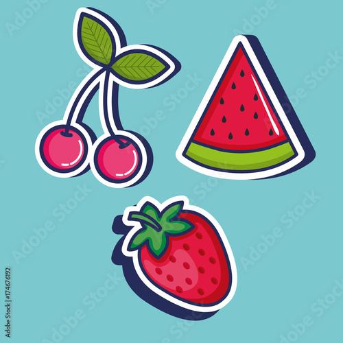 cute pop art icons vector illustration design