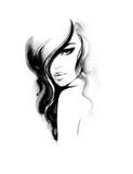 Makeup. Fashion illustration. Beautiful woman face - 174680550