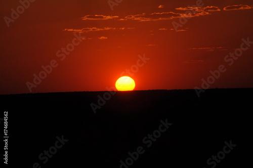 Aluminium Rood paars Sunset