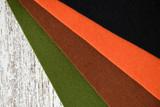 Felt sheets in fall colors - 174687733
