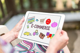 E-commerce concept on a tablet - 174690337