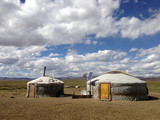 Two traditional yurts - 174690996