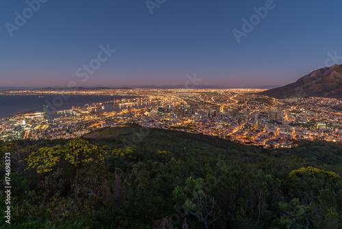 Fotobehang Zwart Cape Town