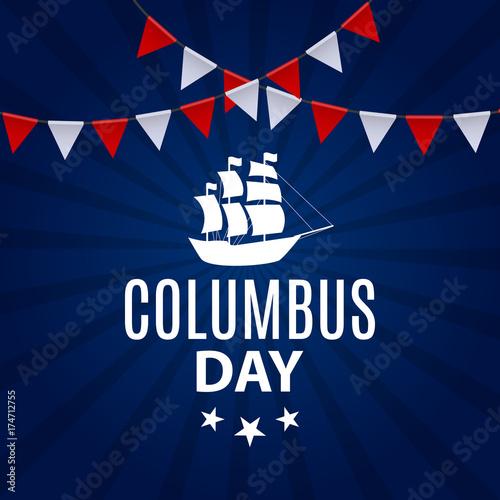Vector Illustration of Columbus Day