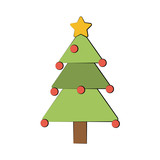tree christmas related icon image vector illustration design