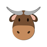 cow or bull face icon image vector illustration design  - 174714569