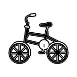 bike or bicycle sideview icon image vector illustration design  black and white - 174715962