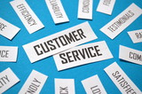 CUSTOMER SERVICE Paper Clipping Tag Cloud