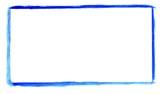 Handgemalter Rahmen aus blauer Farbe - 174719513