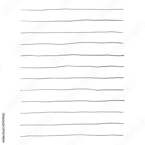 Schwarze unordentliche Bleistift Linien für Notizen Poster