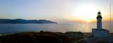 Vista aerea del Faro e della torre sull'isola della Giraglia, il punto più a Nord della penisola del Cap Corse. Corsica Francia. - 174722553