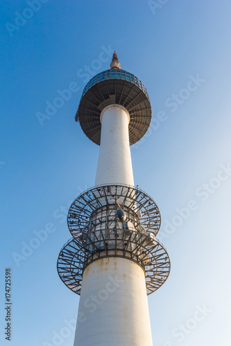 Staande foto Seoel N Seoul tower at South Korea.