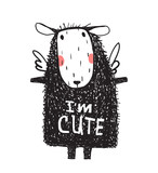 I am Cute Hairy Sheep Sign Card Print - 174727355