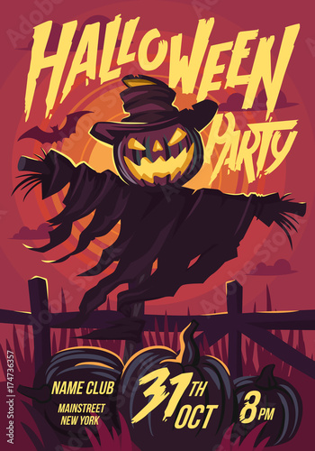 Halloween Scarecrow with a Jack head