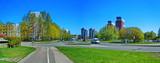 Panoramic cityscape of Imanta district of Riga, Latvia