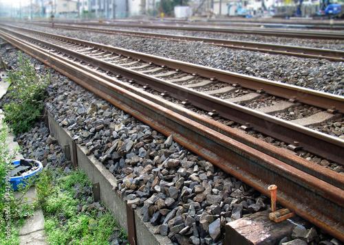 Staande foto Spoorlijn 鉄道 レール