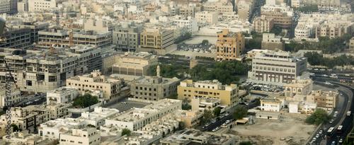 Staande foto Dubai Aerial panorama of the city of Dubai, UAE