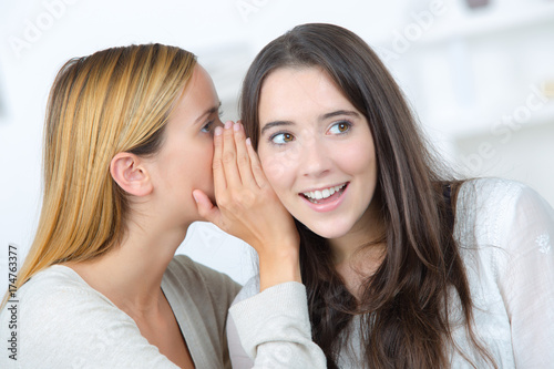 two girls gossiping Poster