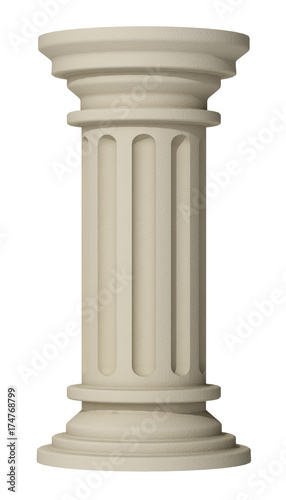 column on a white background