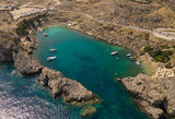 Aerial view of St Paul's Bay on Rhodes island - 174770972