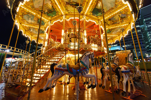 Deurstickers Amusementspark Minatomirai, Yokohama Japan