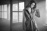 woman in coat. Vintage concept - 174808762