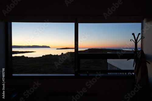 Aluminium Zwart Window view in Iceland