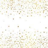 Festive explosion of confetti. Gold glitter background. Golden dots. Vector illustration polka dot . - 174816153