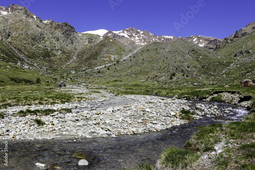 Staande foto Khaki River that is fed by the melting of alpine glaciers